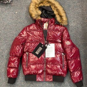 DSQUARED RED GLOSSY PLUS SIZE MEN'S INFLATABLE JACKET